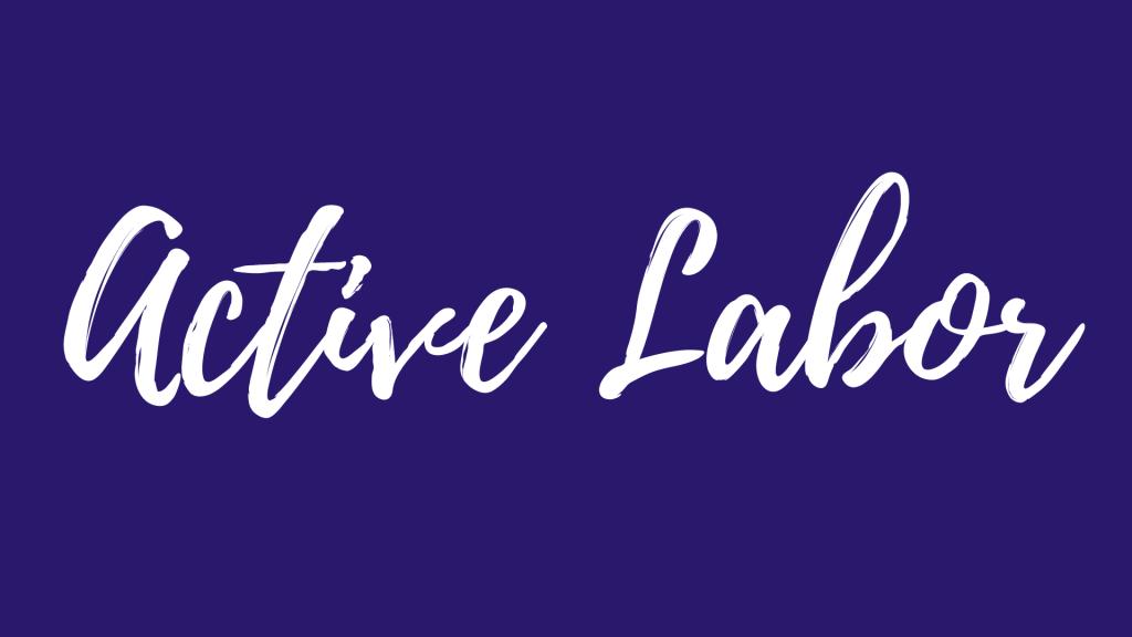 Active Labor Childbirth Class graphic