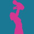 mom lifting her baby postpartum